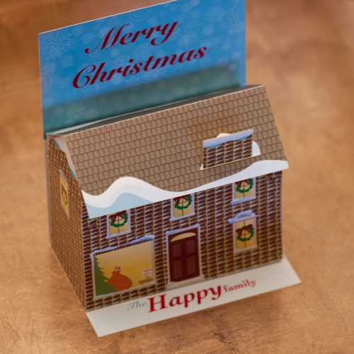 Christmas card house